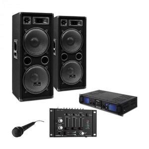 "Electronic-Star DJ PA set ""DJ–27"", zosilňovač, PA repro, 2000W, USB, SD, MP3 vyobraziť"