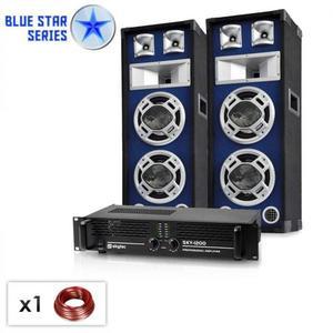 "Electronic-Star , ,Bassboom"", 1600W, PA set zo série Blue Star vyobraziť"