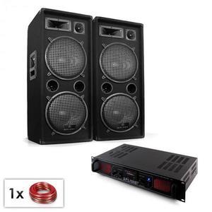 """Electronic-Star PA Set """"Malone SPL Bluetooth MP3"""" pár 2x12"""" reproduktor & zosilňovač 1500W vyobraziť"""