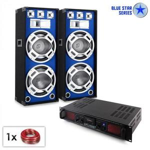 "Electronic-Star PA Set Blue Star Series ""Beatsound Bluetooth MP3"", 1500 W vyobraziť"