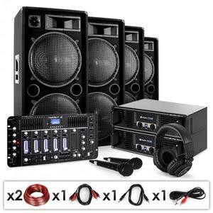 Electronic-Star Bass First Pro Bluetooth, DJ PA systém, 2 x zosilňovač, 4 x reproduktor, mixážny pult, 4000 W vyobraziť