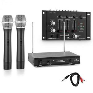 Electronic-Star Sada bezdrôtových mikrofónov s 3-kanálovým zosilňovačom, čierna vyobraziť