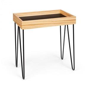 Besoa Little Lyon, konferenčný stolík, melamin/MDF s dubovou dyhou, oceľový rám, čierny vyobraziť
