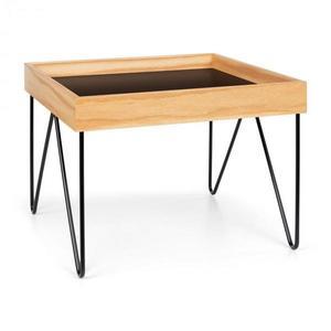 Besoa Big Lyon, konferenčný stolík, melamin/MDF s dubovou dyhou, oceľový rám, čierny vyobraziť