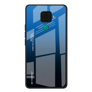 MG Gradient Glass plastové púzdro pre Huawei Mate 30 Lite, čierne-modré vyobraziť