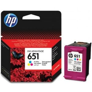 HP 651 ORIGINAL ATRAMENT C2P11AE, TRI-COLOUR, 300 STRAN vyobraziť