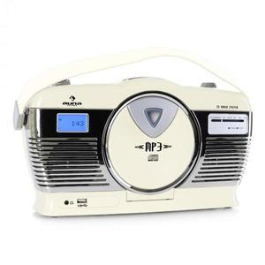 Auna RCD-70CR, retro rádio, FM, USB, CD, batéria, krémové vyobraziť