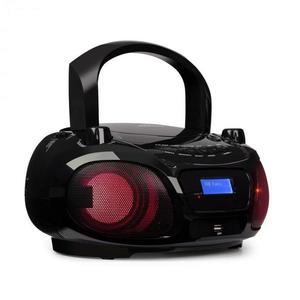 Auna Roadie DAB, CD prehrávač, DAB/DAB+, FM, LED disko svetelný efekt, bluetooth, čierna farba vyobraziť