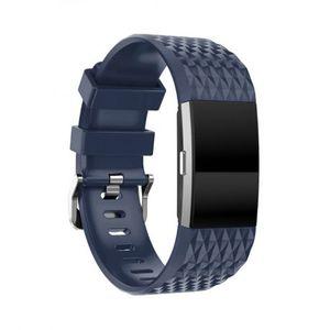 Fitbit Charge 2 Silicone Diamond (Large) remienok, Dark Blue vyobraziť