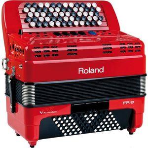 Roland FR-1x Červená Gombíkový akordeón vyobraziť