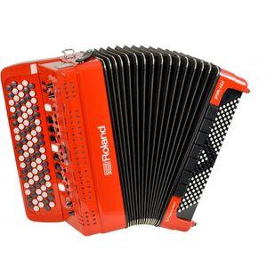 Roland FR-4x Červená Gombíkový akordeón vyobraziť