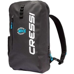 Cressi Fishbone Dry Backpack 25L Black/Light Blue vyobraziť