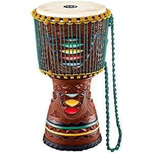 Meinl AE-DJTC2-L Artisan Tongo Carved Djembe Coloured ornamental carving vyobraziť