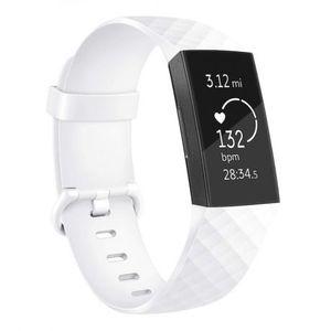 Fitbit Charge 3 Silicone Diamond (Large) remienok, White vyobraziť