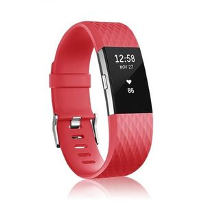 Fitbit Charge 2 Silicone Diamond (Small) remienok, Red vyobraziť