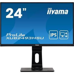 24'' iiyama XUB2493HSU-B1: IPS, FullHD@75Hz, 250cd/m2, 4ms, VGA, HDMI, DP, USB, height, pivot, černý vyobraziť