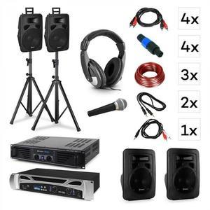 Vonyx Lisbon, DJ systém – sada, PA zosilňovač, PA reproduktor, DJ slúchadlá, mikrofón vyobraziť