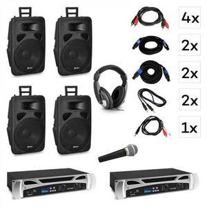 Vonyx Berlin Nights, DJ systém – sada, zosilňovač, reproduktor, DJ slúchadlá, mikrofón vyobraziť