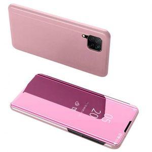 MG Clear View knižkové puzdro na Huawei P40 Lite, ružové vyobraziť