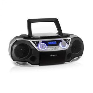 Auna Roadie 2K, boombox, CD prehrávač, kazetové rádio, DAB/DAB+, UKW, bluetooth, strieborný vyobraziť