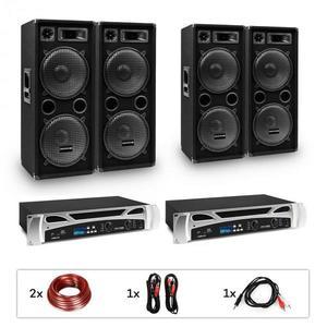"Electronic-Star eStar Bangkok Rhythm Pro, DJ systém, sada, 2 x PA zosilňovač, 2 x 500 W, 4 x subwoofer, 2 x 12"" vyobraziť"