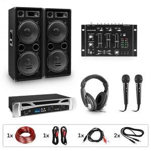 Electronic-Star eStar Block-Party II, DJ systém, sada, PA zosilňovač, DJ mixér, 2 x subwoofer, slúchadlá vyobraziť