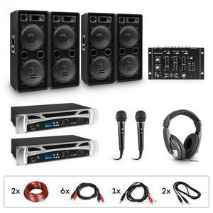 Electronic-Star eStar Bass-Party, DJ systém, sada, 2 x PA zosilňovač, DJ mixér, 4 x subwoofer, slúchadlá vyobraziť