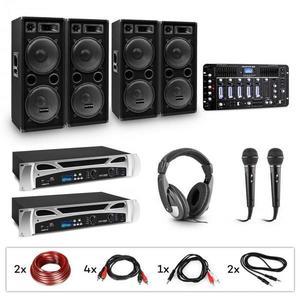 Electronic-Star eStar Bass-Party Pro DJ systém + PA zosilňovače + DJ mixér + subwoofery vyobraziť
