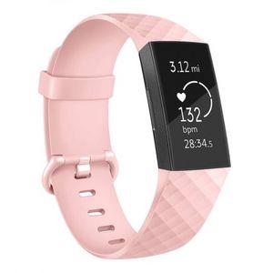 Fitbit Charge 3 Silicone Diamond (Large) remienok, Sand Pink vyobraziť