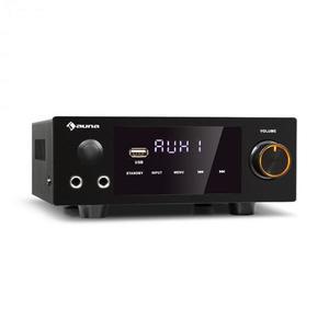 Auna AMP-2 DG, stereo HiFi zosilňovač, 2 x 50 W, RMS, BT/USB, optický & koaxiálny digitálny vstup vyobraziť