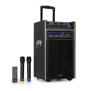 """Auna Pro DisGo Box, DVD prenosný PA systém, 300 W max., 2 x 10"""" woofer, DVD, BT vyobraziť"""