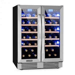 Klarstein Vinovilla Duo 42 2-zónová chladnička na víno, 126l, 42 fliaš, 3 farby, sklená vyobraziť
