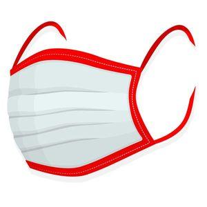 Rúško na tvar - 100% bavlna červené vyobraziť