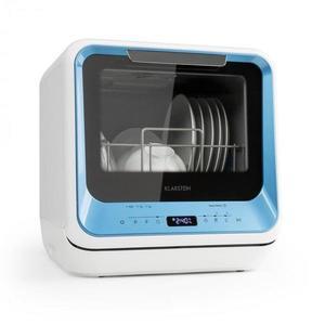 Klarstein Amazonia Mini, umývačka riadu, 6 programov, LED displej, modrá farba vyobraziť