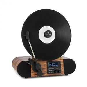 Auna Verticalo SE DAB, retro gramofón, DAB+, FM tuner, USB, BT, AUX, drevo vyobraziť