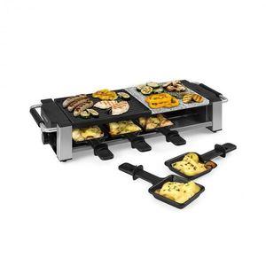 Klarstein Bistecca, raclette gril, 1200 W, kov/kameň, 8 osôb, LED kontrolka vyobraziť