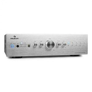Stereo zosilňovač Auna CD708, AUX phono, strieborný, 600 W vyobraziť