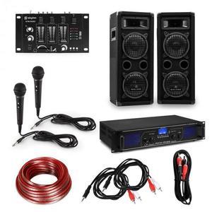Electronic-Star eStar, HiFi DJ PA párty sada, zosilňovač, reproduktory, mixážny pult, mikrofóny, káble vyobraziť