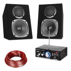 Electronic-Star Hifi Stereo Sound Set USB SD MP3 - 30 W vyobraziť