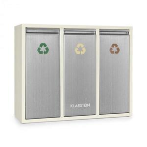 Klarstein Ordnungshütter 3, 45 l, krémovo-béžová, box na triedený odpad, 3 x 15 l vyobraziť