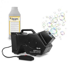 QTX QTFX-B3, Mega Bubble Machine, výrobník mydlových bubliniek, súprava, 1, 8 litra + 1 liter kvapaliny vyobraziť
