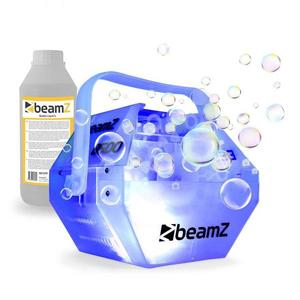 Beamz B500LED, sada s výrobníkom mydlových bublín, RGB LED farebný efekt, 1 l tekutiny vyobraziť