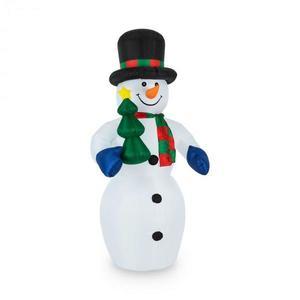 OneConcept Mr.Frost, Frost, 240 cm, nafukovací snehuliak, LED vyobraziť