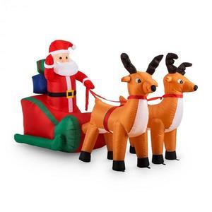 OneConcept X-MAS-X-PRESS, 240 cm, nafukovacia vianočná dekorácia, Santa Claus vyobraziť