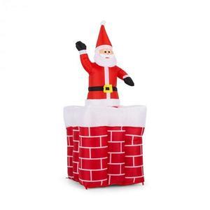OneConcept Merry-Surprise, 180 cm, nafukovací komín so Santa Clausom, LED vyobraziť