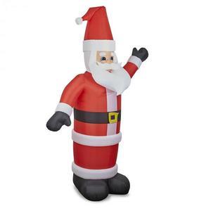 OneConcept Santa XXL, nafukovací Santa Claus, 350 cm, kompresor, osvetlený 6 LED diódami vyobraziť