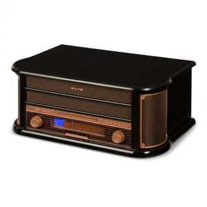 Auna Belle Epoque 1908, retro stereo systém, gramofón, rádio, USB, CD, MP3, mikrosystém vyobraziť
