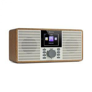 """Auna IR-260, internetové rádio, WLAN, USB, AUX, UPnP, 2.8"""" HCC displej, diaľkový ovládač, drevo vyobraziť"""