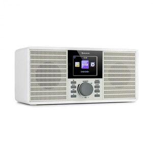 """Auna IR-260, internetové rádio, WLAN, USB, AUX, UPnP, 2.8"""" HCC displej, diaľkový ovládač, biele vyobraziť"""