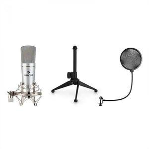 Auna MIC-920, USB mikrofónová sada V1, kondenzátorový mikrofón, statív, pop filter, kardioidná smerová charakteristika vyobraziť